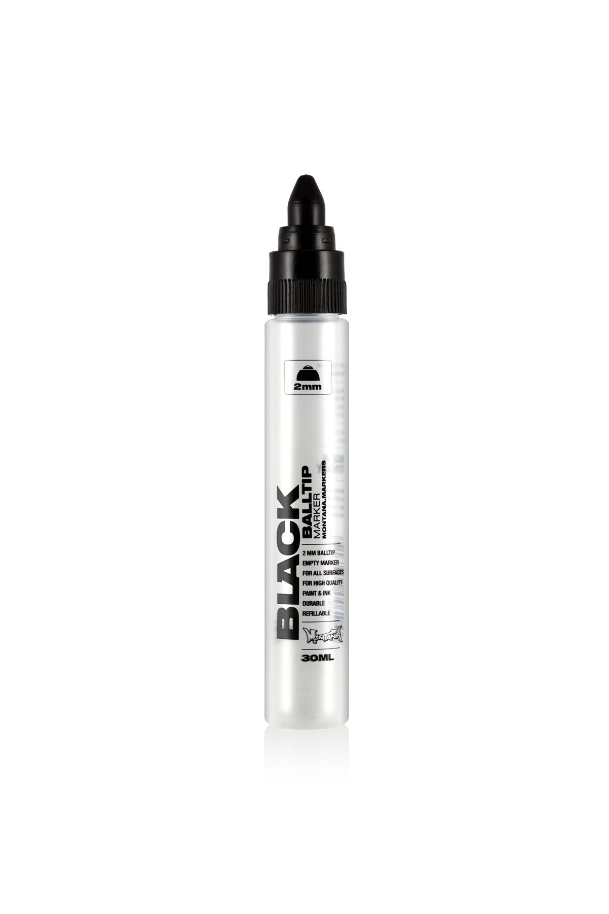 Montana BLACK EMPY BALLTIP Marker 2mm/30ml