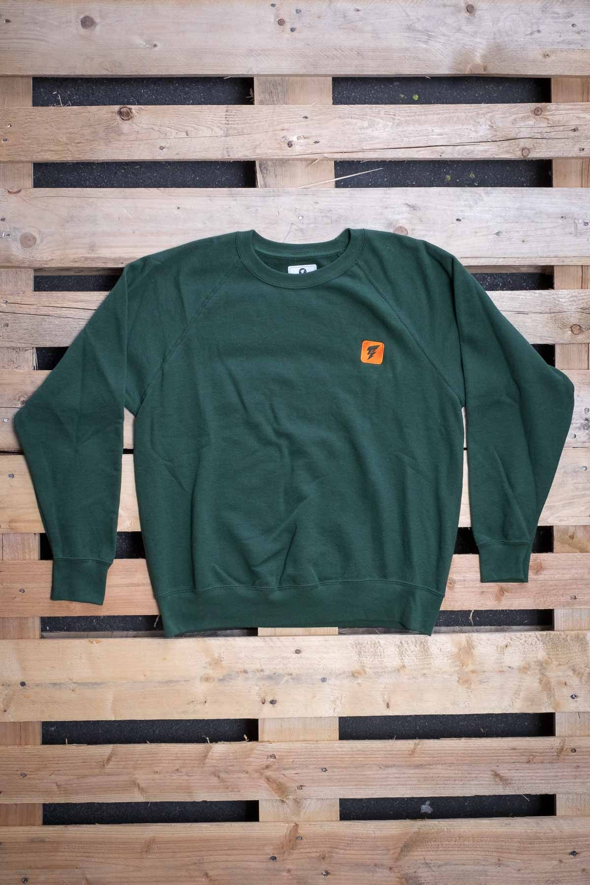 Full Mine Raglan Light Sweatshirt Green