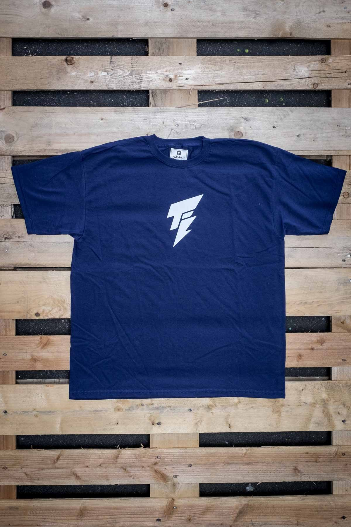 Full Mine Classic Tee Blue Front Typo Logo