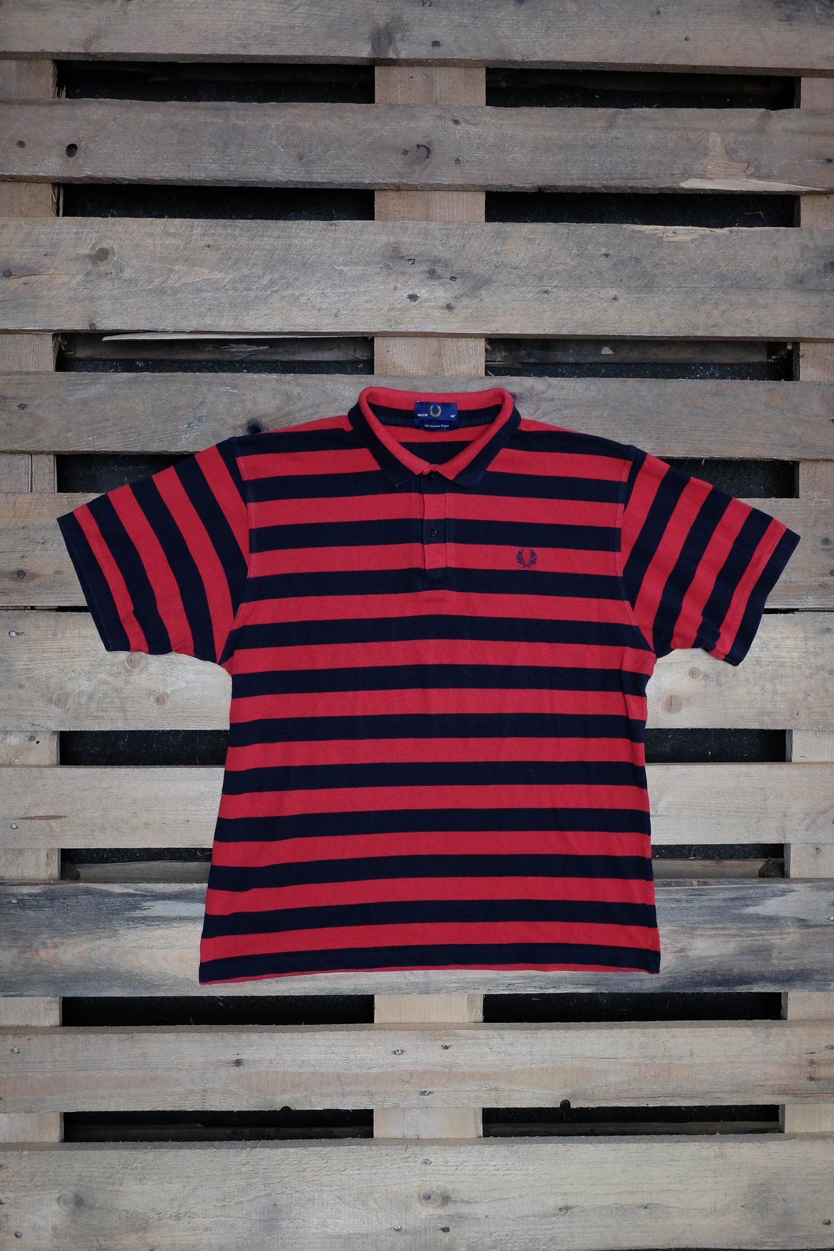Fred Perry T-SHIRT POLO VINTAGE Red-Black