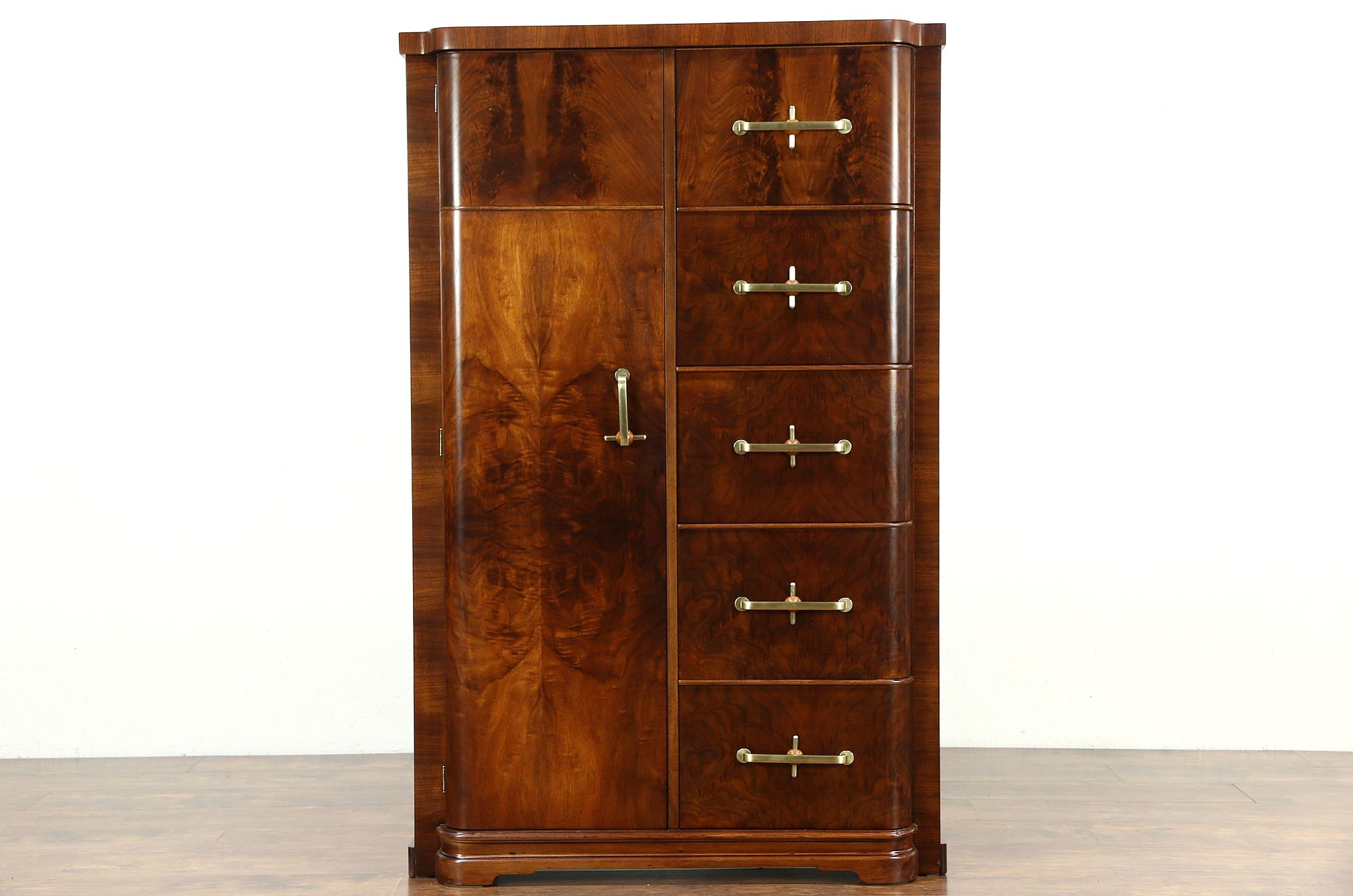 Sold Art Deco Italian 1930 S Vintage Armoire Wardrobe