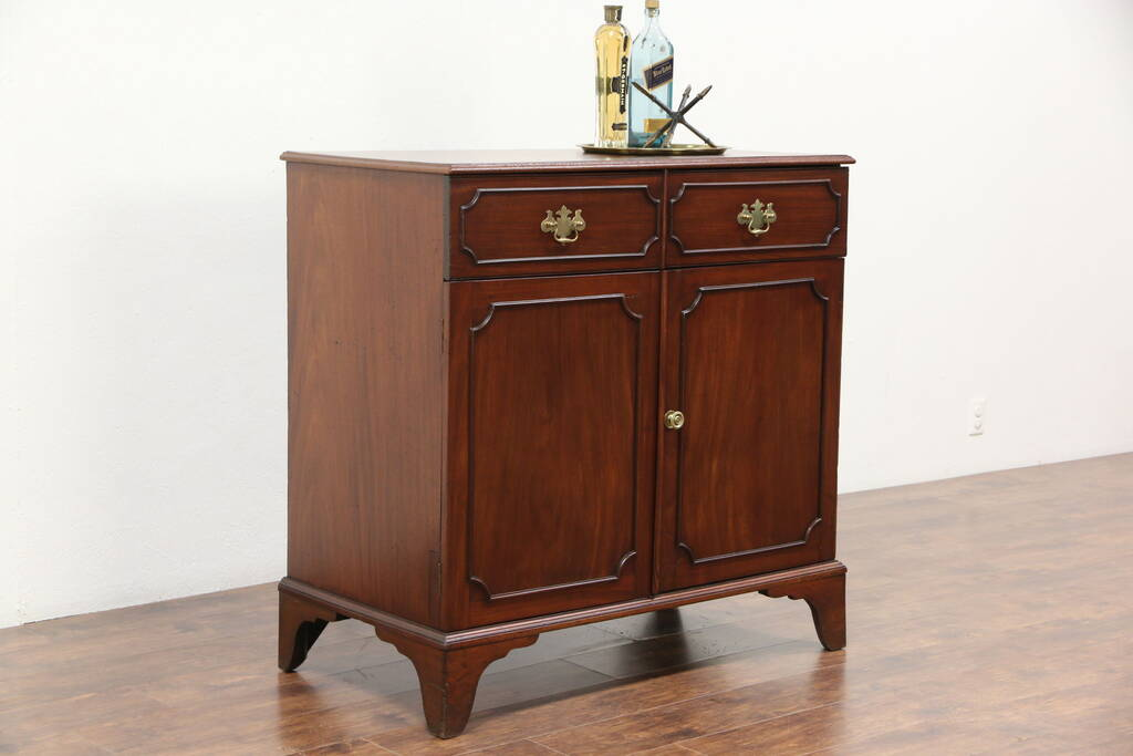 Antique French Cherry Console