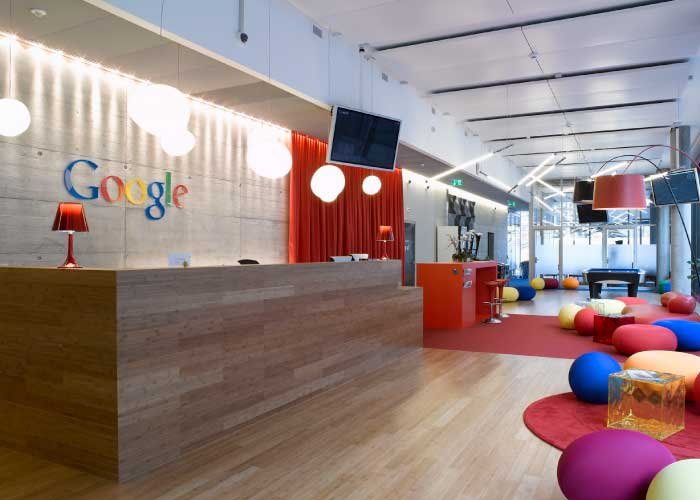 ELEMENTS OF DESIGN PART 2  COLOUR Google knows how to apply colour in a way that not only enforces their  brand  but also to create a fun and interesting working environment that  benefits