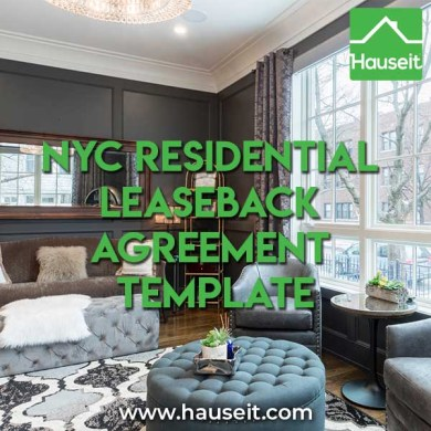 NYC Residential Leaseback Agreement Template   Hauseit NYC NYC Residential Leaseback Agreement Template