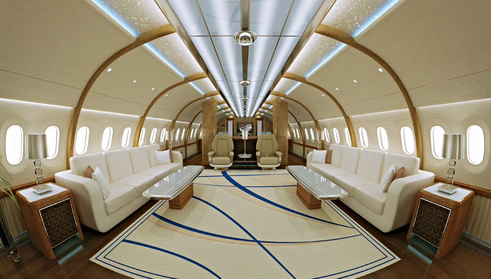 Inside Private Luxury Jets With Custom Made Interiors