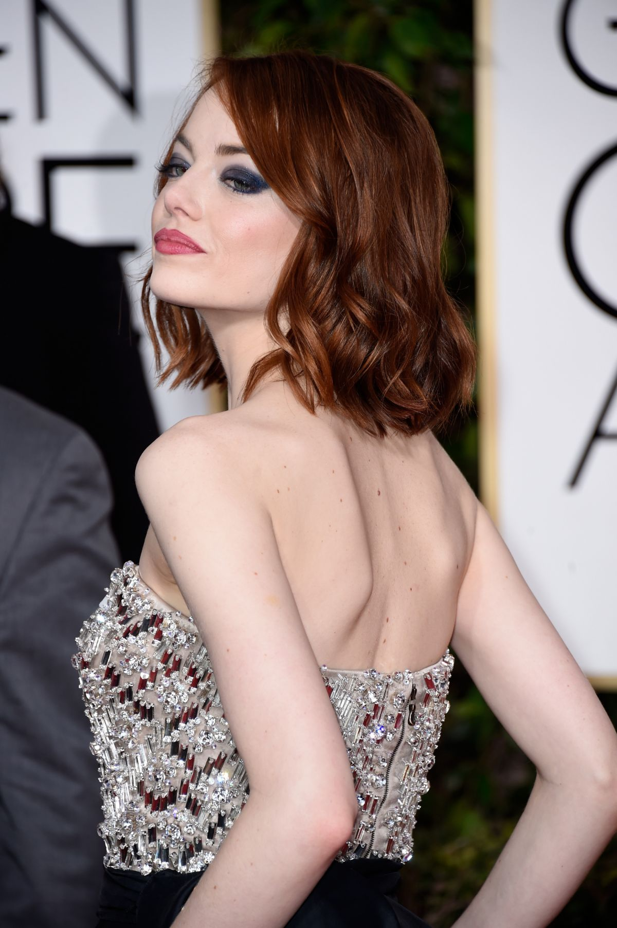 Emma Stone At 2015 Golden Globe Awards In Beverly Hills