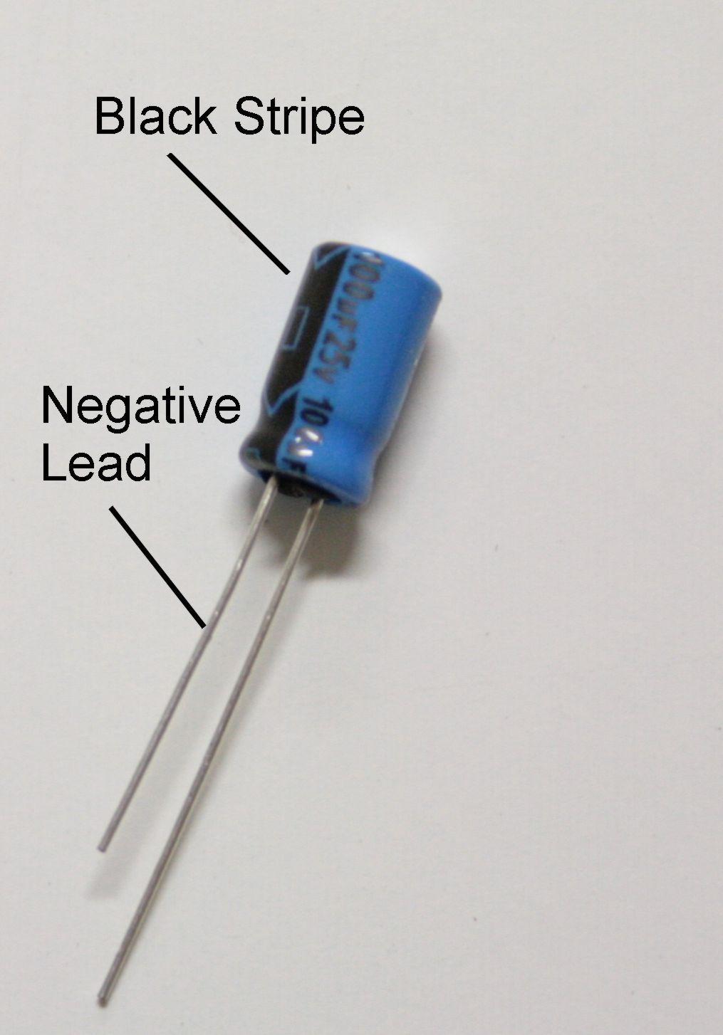 Electrolytic Capacitor Symbol