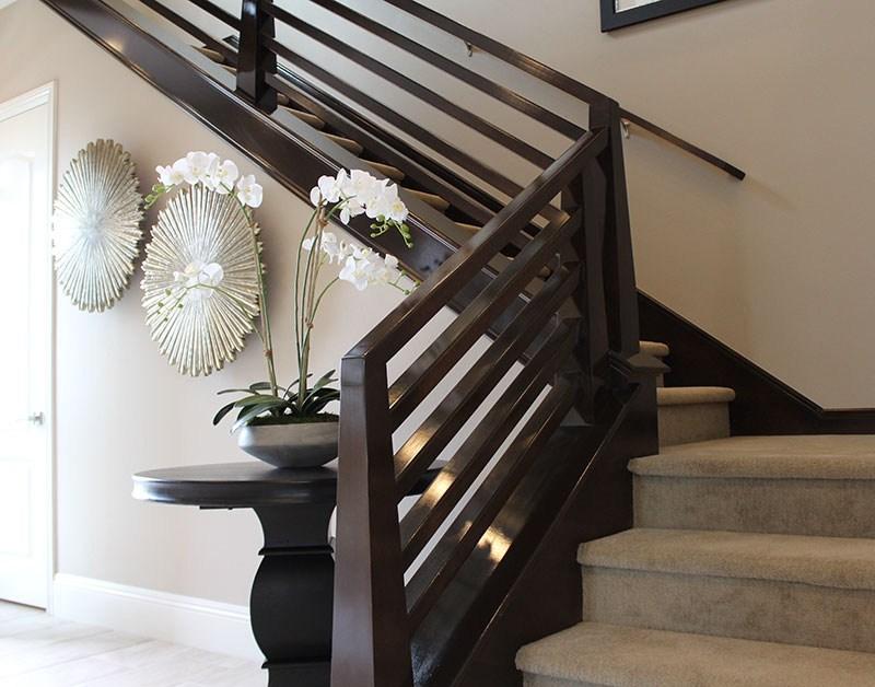 Modern Wood Stair Railing   Modern Stair Rails Indoor   Cheap   Unique Fancy Stair   Modern Style   White Oak   Balustrade