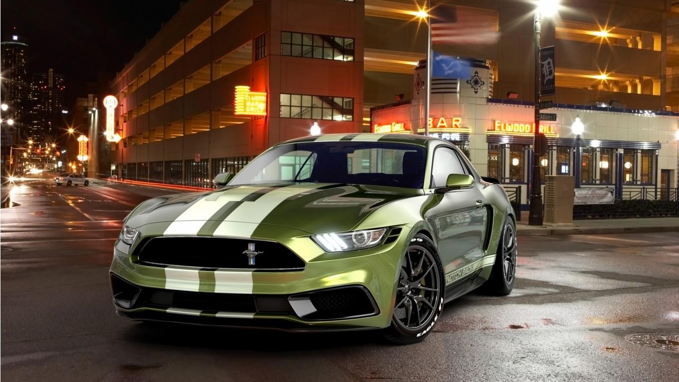 2017 Ford Mustang Notchback Design Wallpaper Hd Car
