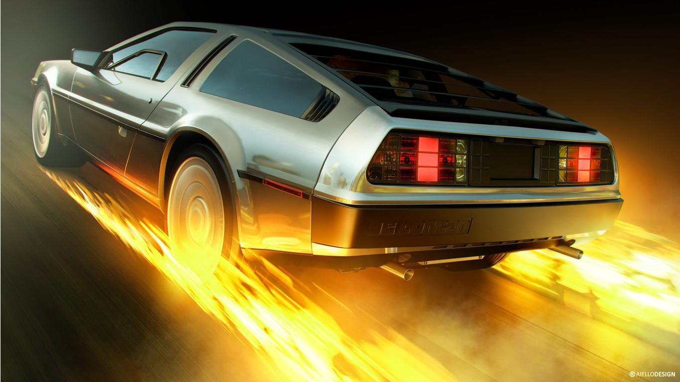 Back To The Future Delorean 4k Wallpaper Hd Car