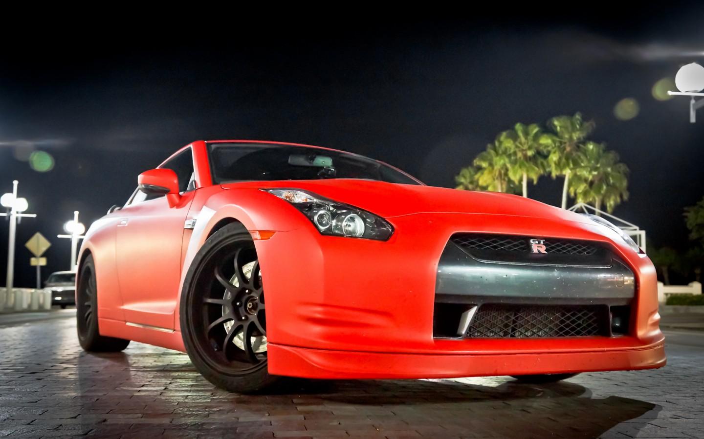 Nissan Gtr Matte Red Wallpaper Hd Car Wallpapers Id 2976