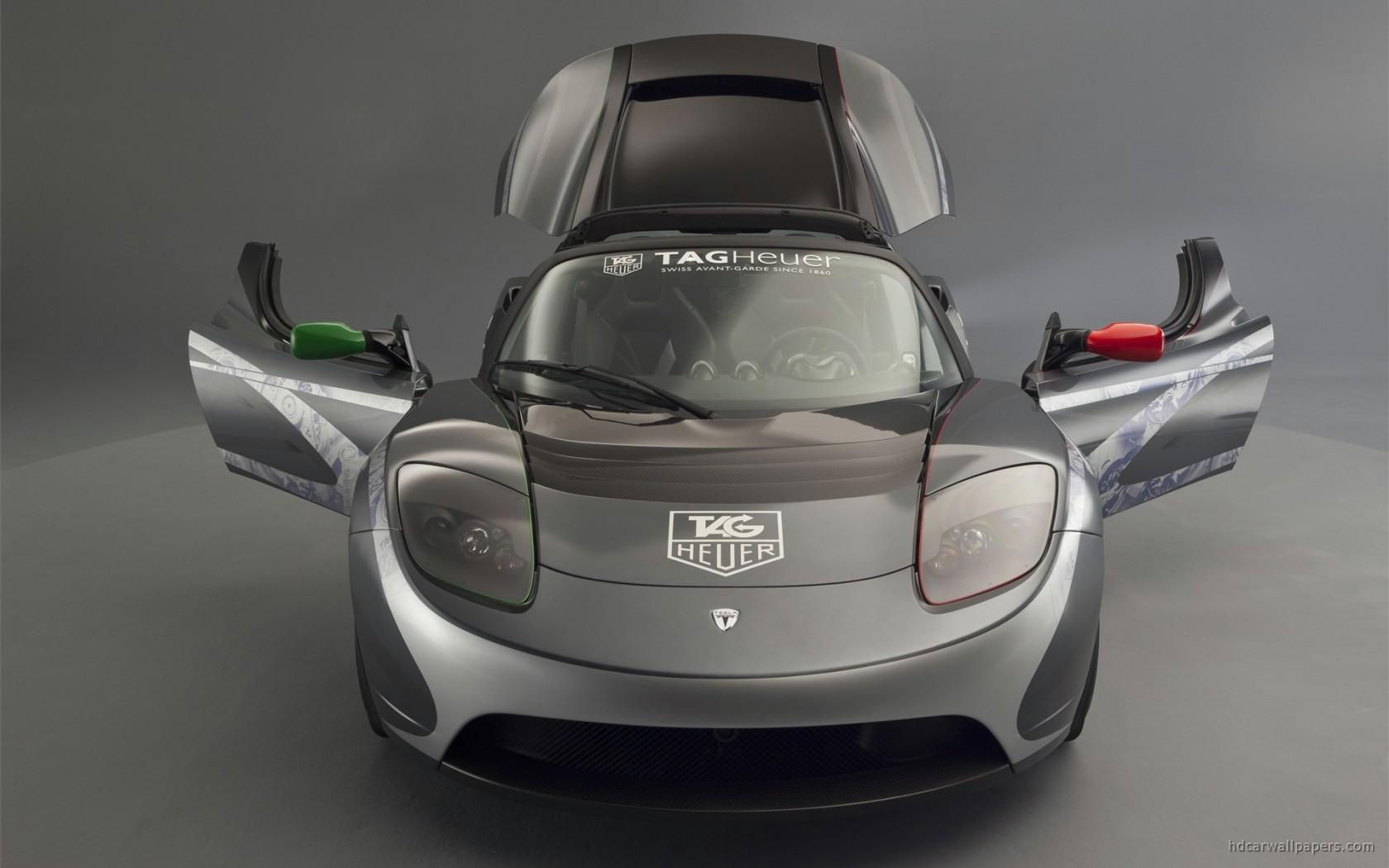 Tag Heuer Tesla Roadster 2 Wallpaper Hd Car Wallpapers