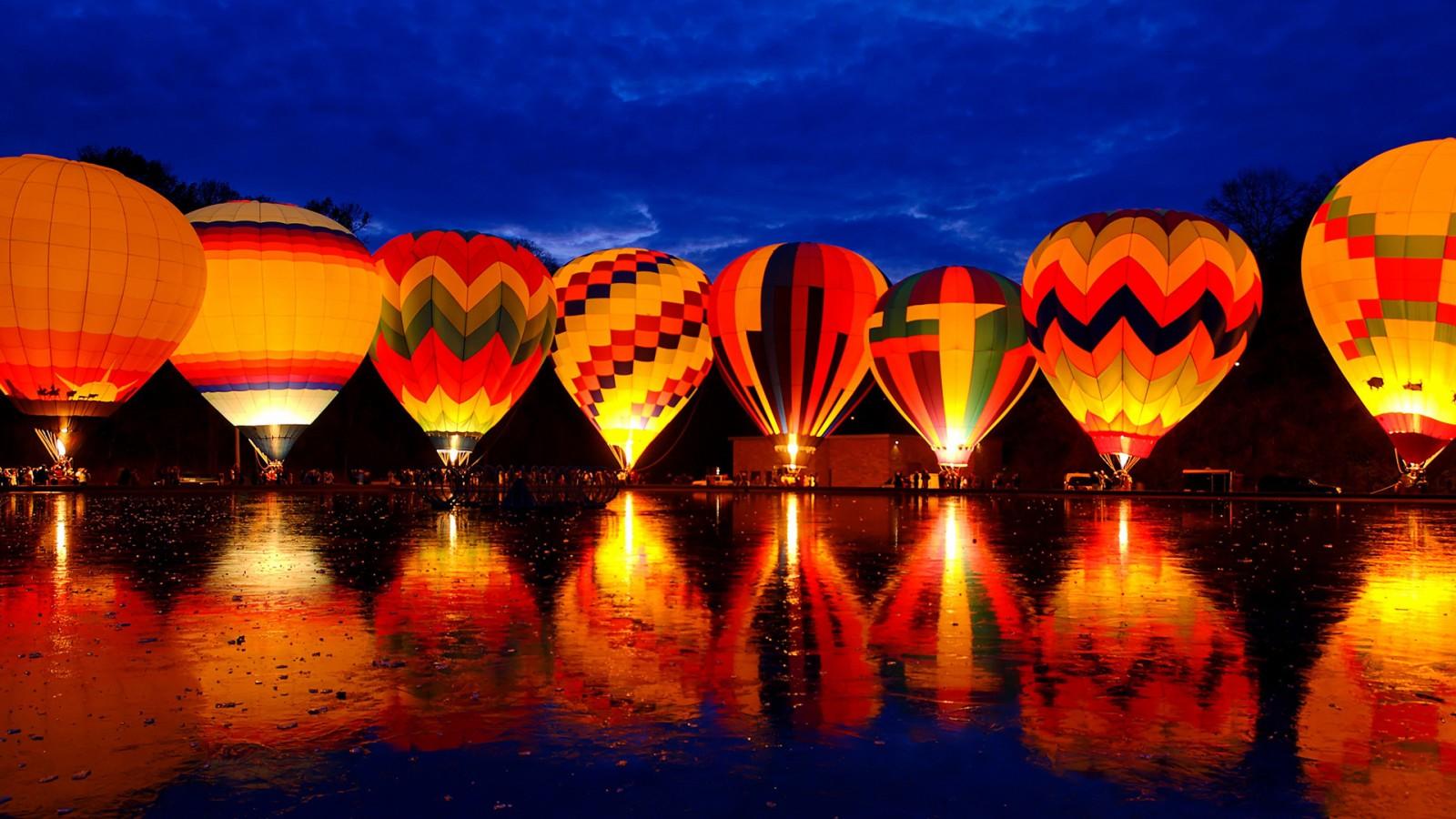 Balluminaria Hot Air Balloon Glow Festival Wallpapers Hd Wallpapers Id 13839