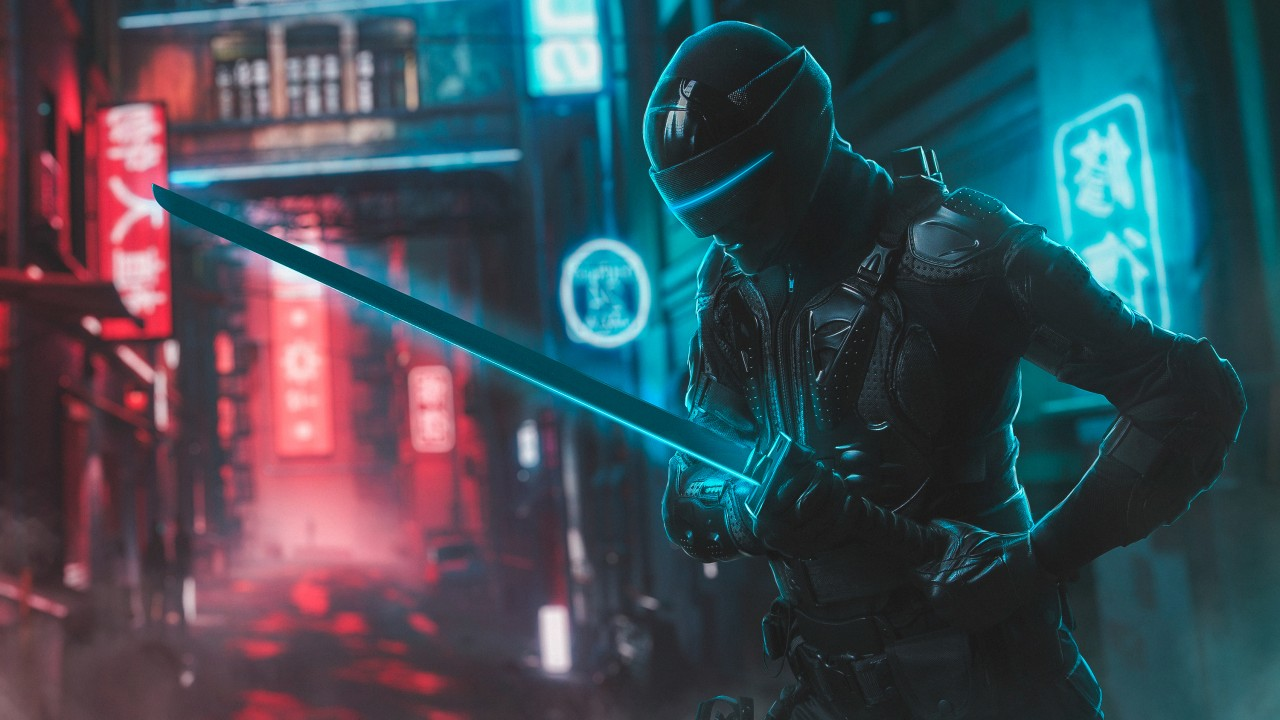Snake Eyes Neon Cosplay Wallpapers Hd Wallpapers Id 28166