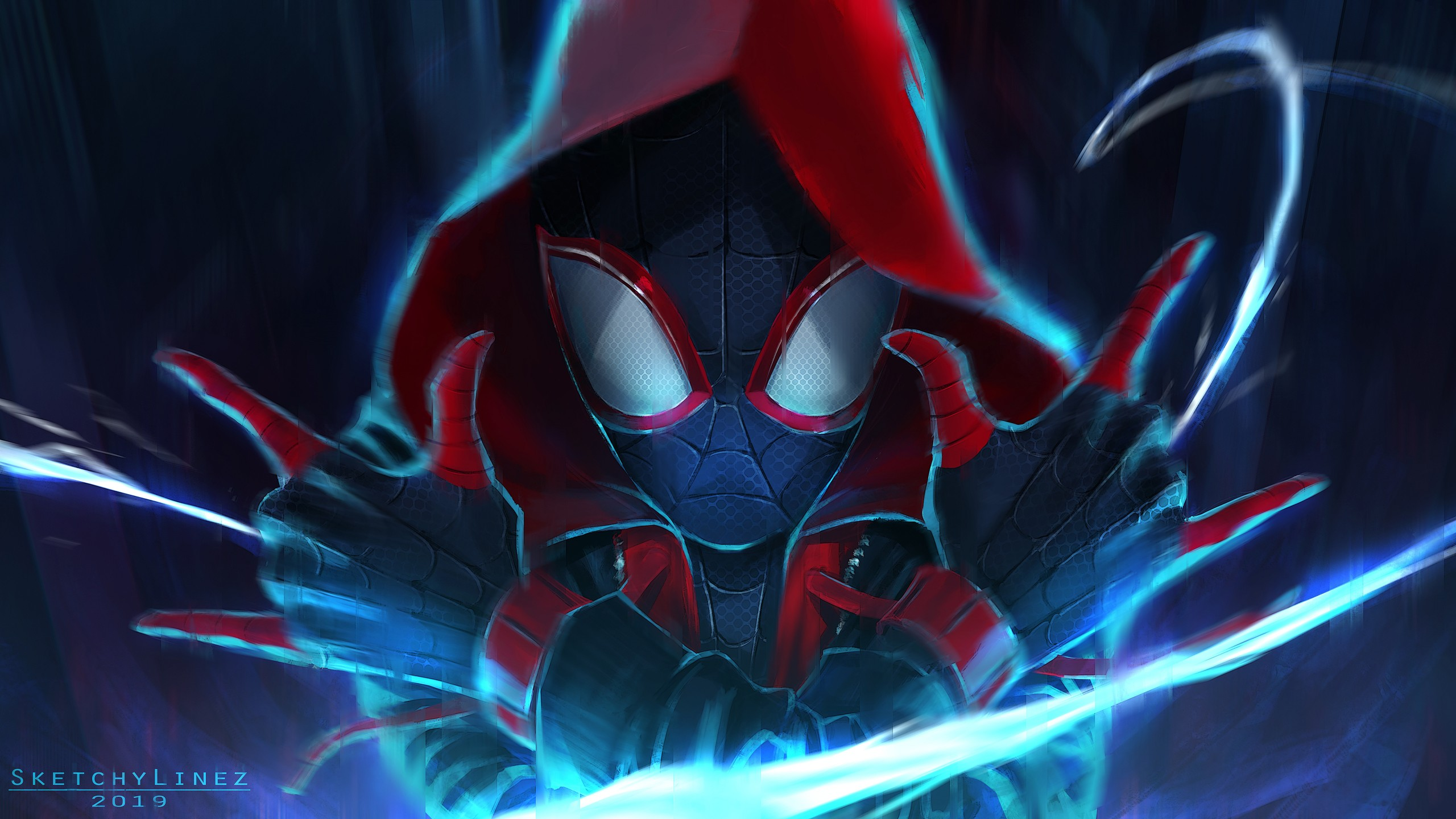 Spider Man Into The Spider Verse 5k Artwork Wallpapers