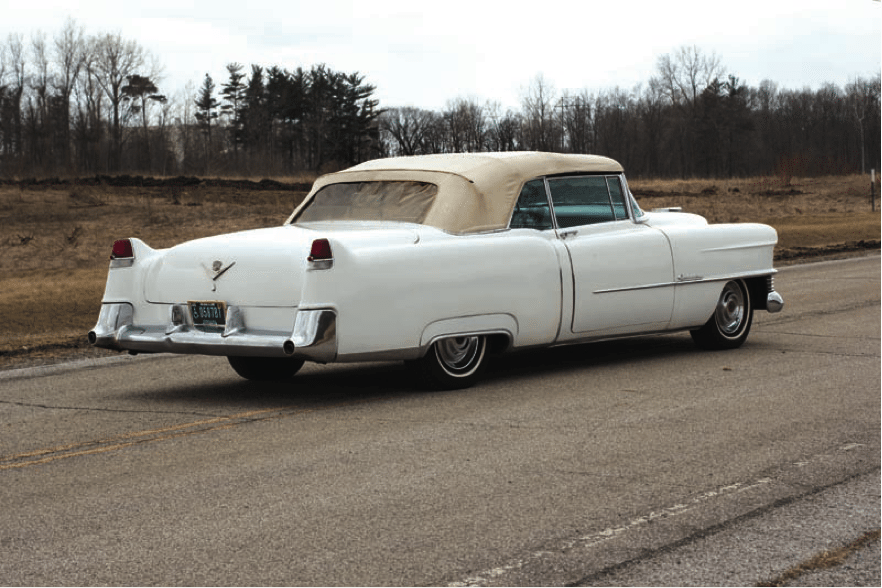 1954 Cadillac Series 62 Eldorado Convertible   Heacock Classic Insurance Changes for the carefully refined Series 62 models of 1954 most notably  included a three inch wheelbase extension accommodating a longer  lower and  sleeker