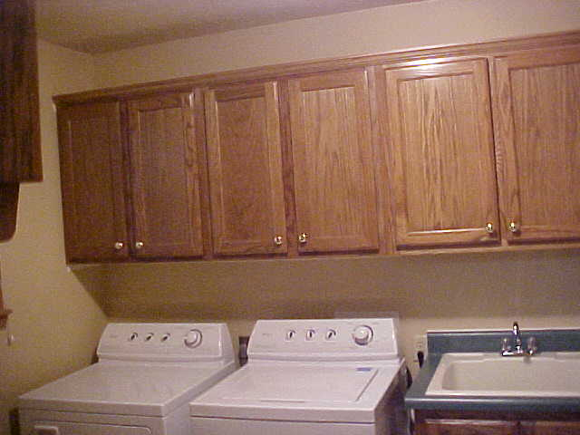 Custom Laundry Room And Utility Room Cabinets