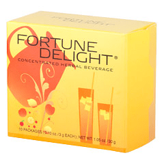 Sunrider® Fortune Delight Peach 60/3 g Packs (0.10 oz./3 g each bag)