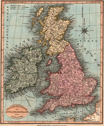 England  Scotland  Ireland 1820 William Darton Historic Map Reprint
