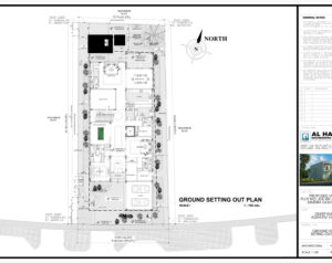 A-002 Ground Site Setting Plan1-A-002-Ground Floor Setting Plan