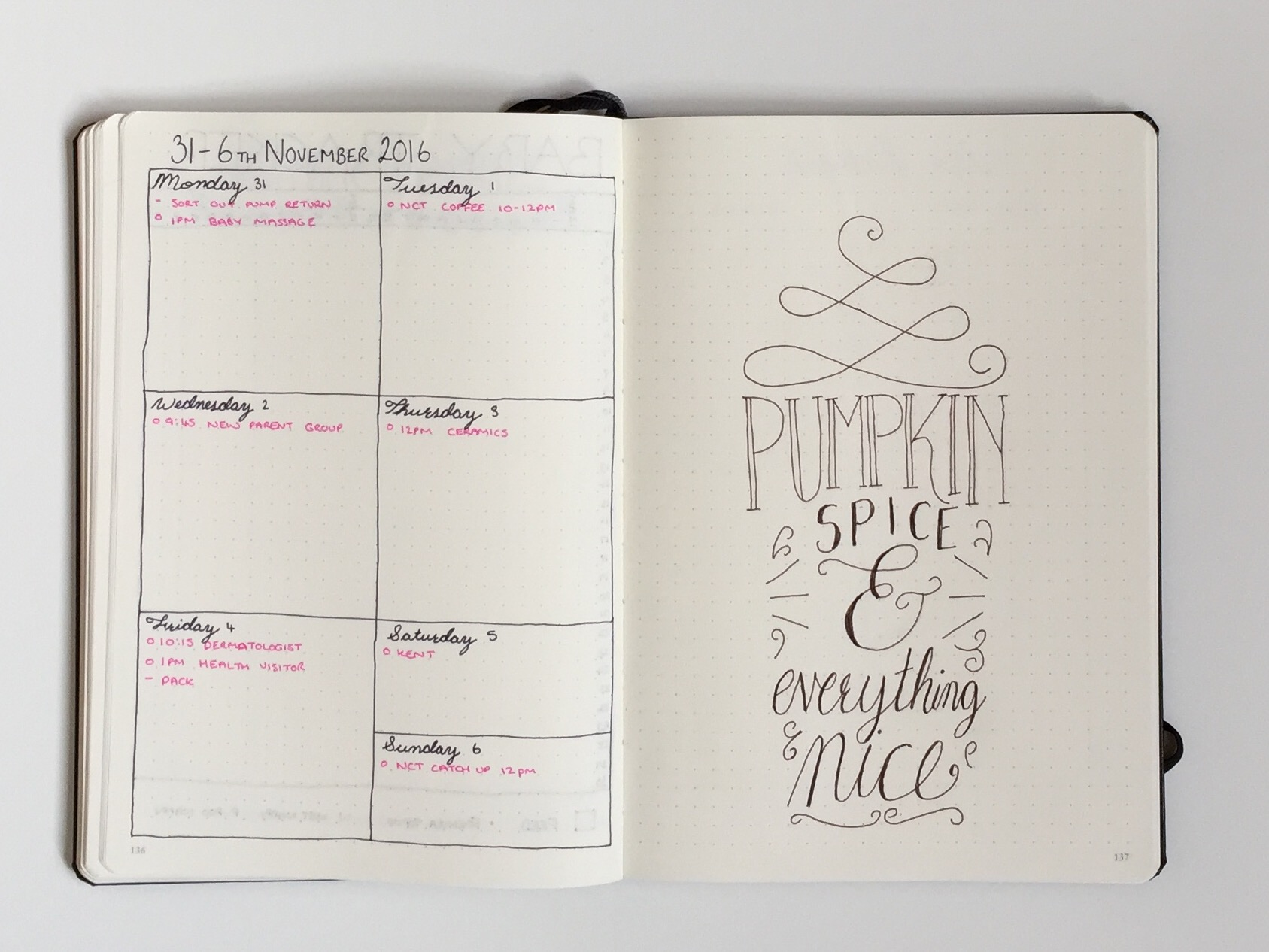November Bullet Journal Setup Hello Deborah