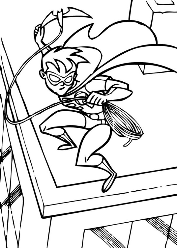 robin coloring page # 12