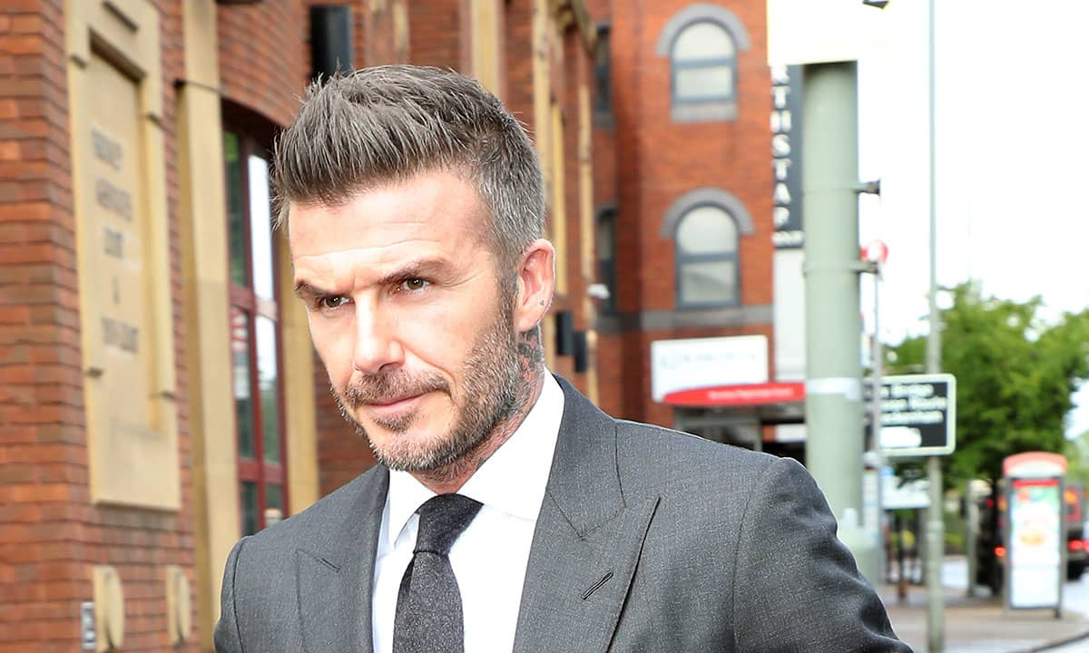 David Beckham banned from driving after using phone at the ...