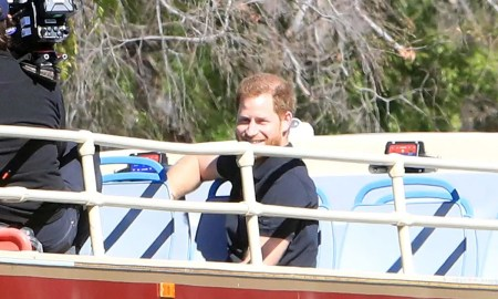 prince harry looks like a hollywood star filming secret project with james corden in la hello