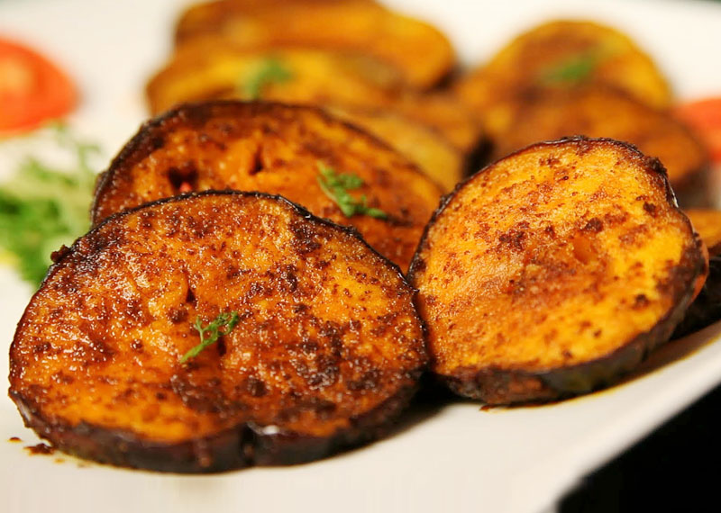 Simple Brinjal Fry Preparation Healthy Dishes