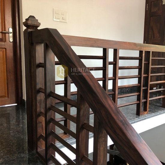 Handrails Buy Rosewood Contemporary Staircase Handrail Furniture | Teak Wood Staircase Railings | Wood Frame | Hand | Sitout | Wood Carving | Lakdi