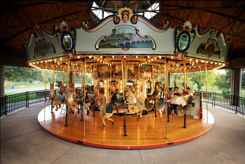 The Heritage Carousel Of Des Moines Iowa Wooden