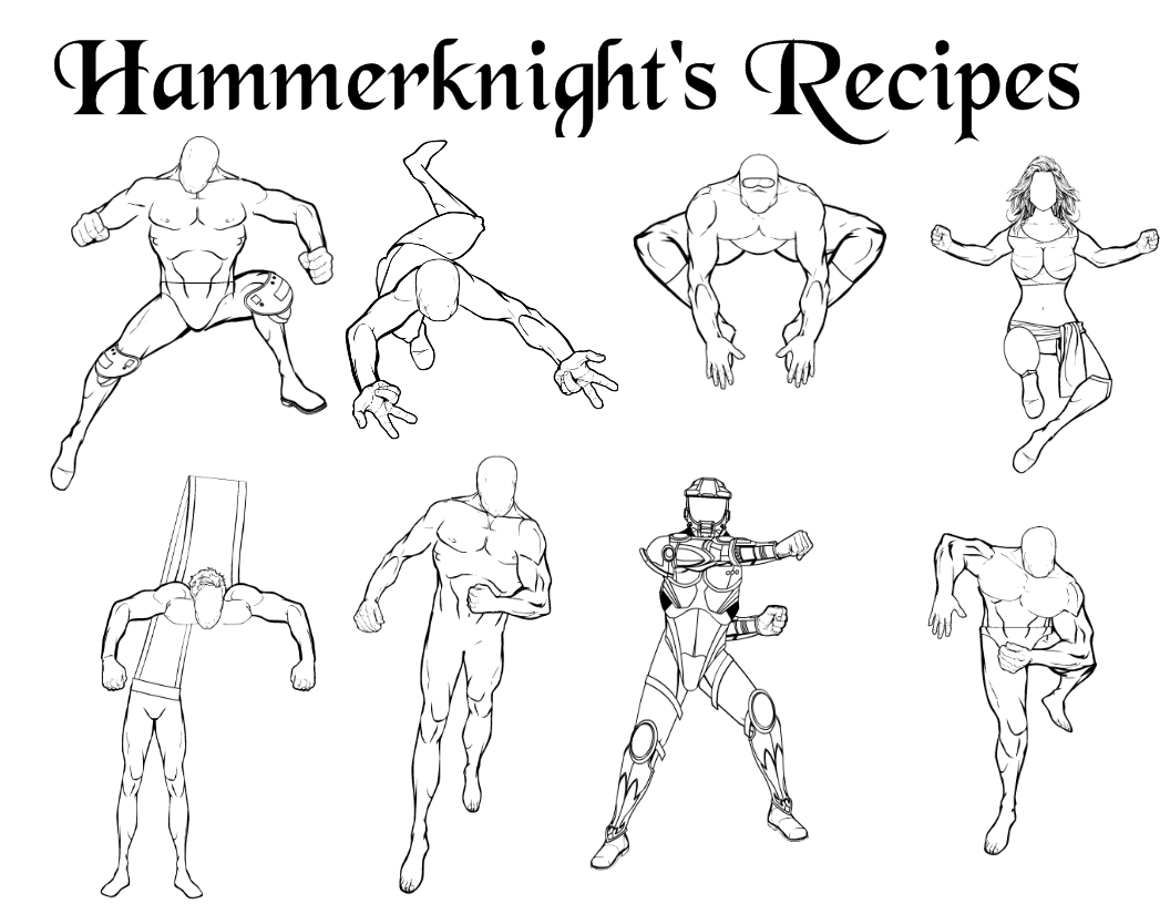 Dynamic Comic Book Action Poses