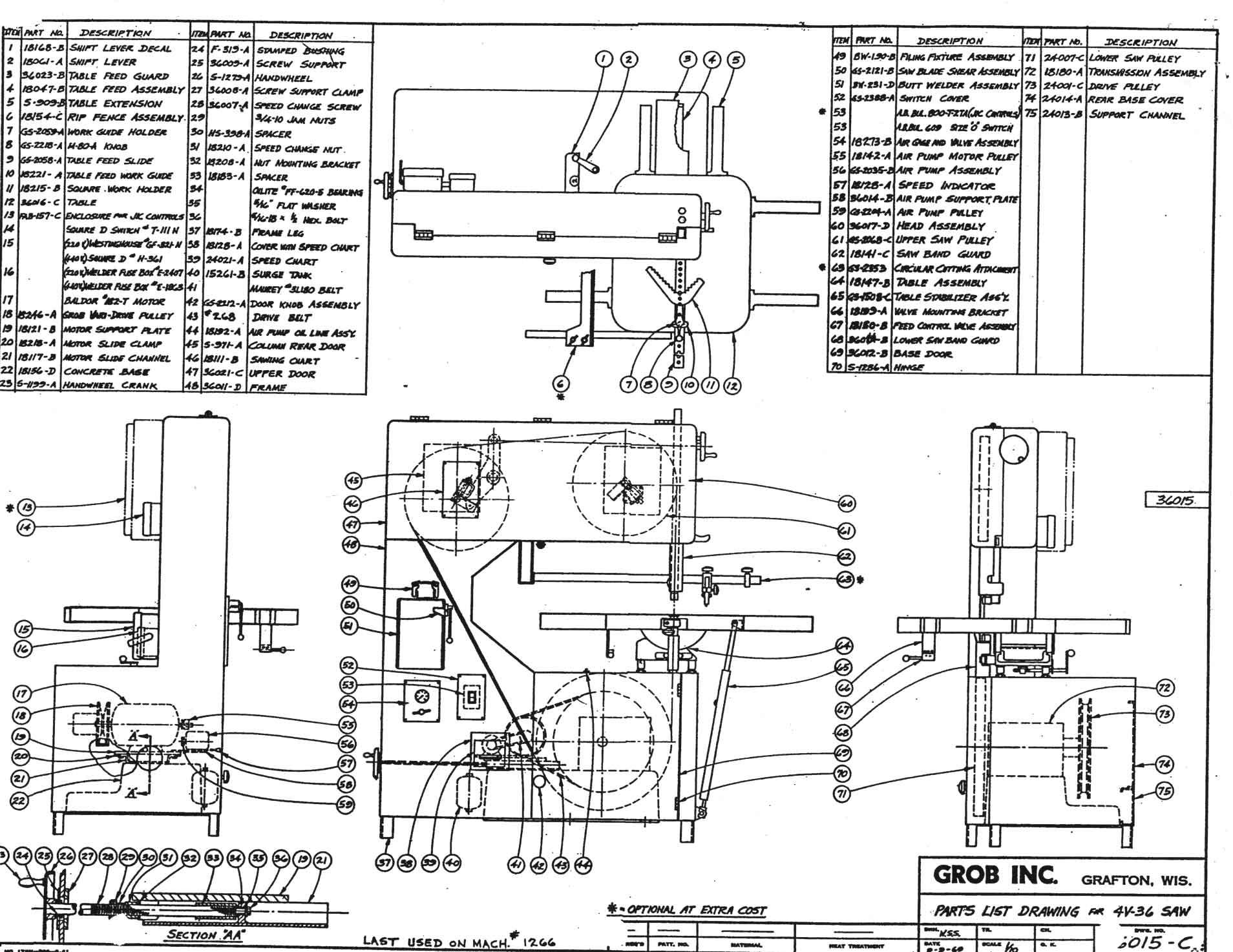 4v36 main assembly parts list