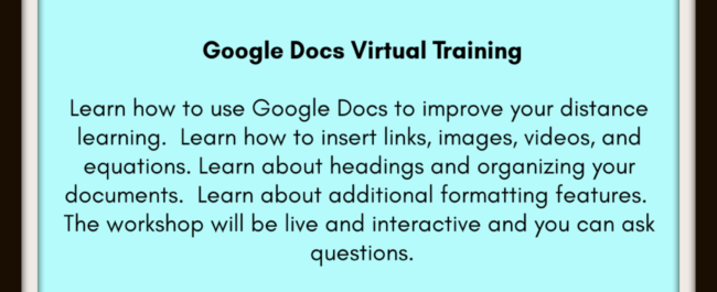 Google Docs Workshop Hia Li