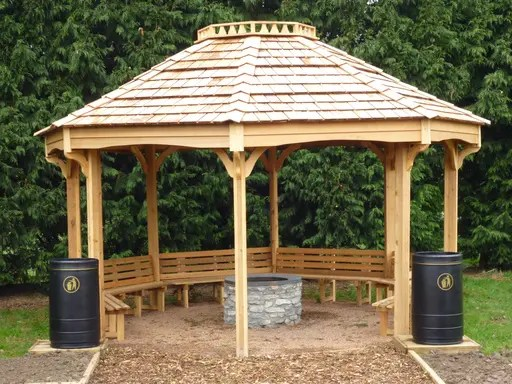 Fire Pit Shelter Amp Outdoor Classroom The Hideout House