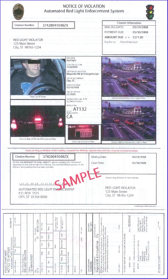 Real Tickets - Red Light Cameras