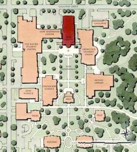Auburn University Campus Map 72250 Usbdata