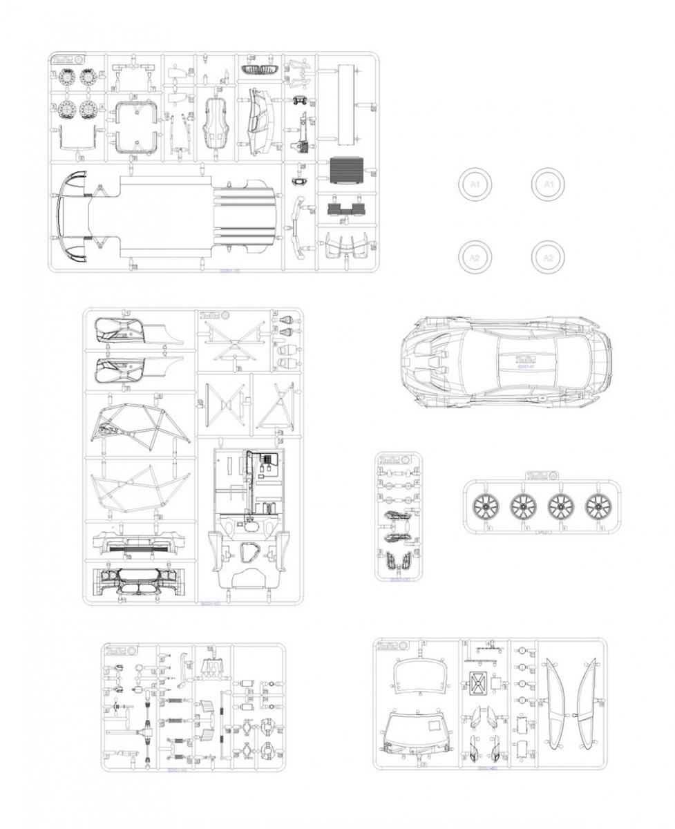 1 24 bmw m6 gt3 rowe racing team model kit by platz