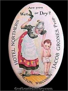 An Overview of The Prohibition Era  1919 1933 Pocket Mirror  Are You Wet or Dry
