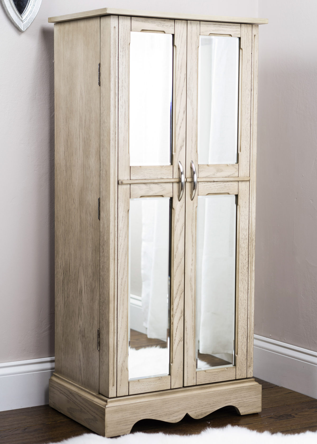 Chelsea Jewelry Armoire   Taupe Mist   Hives and Honey Chelsea Jewelry Armoire   Taupe Mist