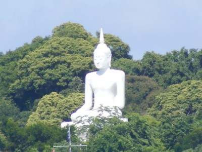 Thailand White Buddha on Island