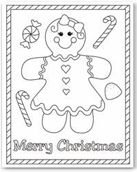 free christmas color pages # 76