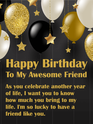 You Bring Joy Happy Birthday Wishes Card For Friends
