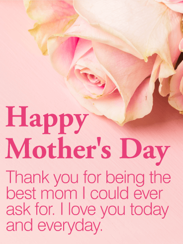 To The Best Mom Happy Mother S Day Card Birthday