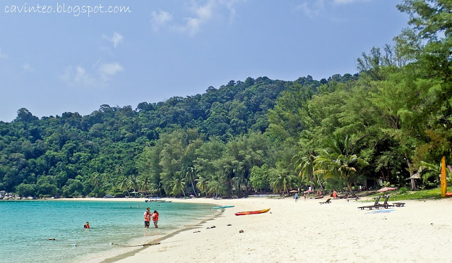 Beach in front of Perhentian Island Resort