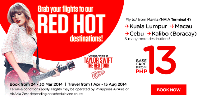 AirAsia Philippines Red Hot Destinations Promotion