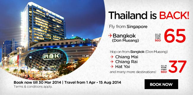 AirAsia Singapore Thailand is Back Promotion