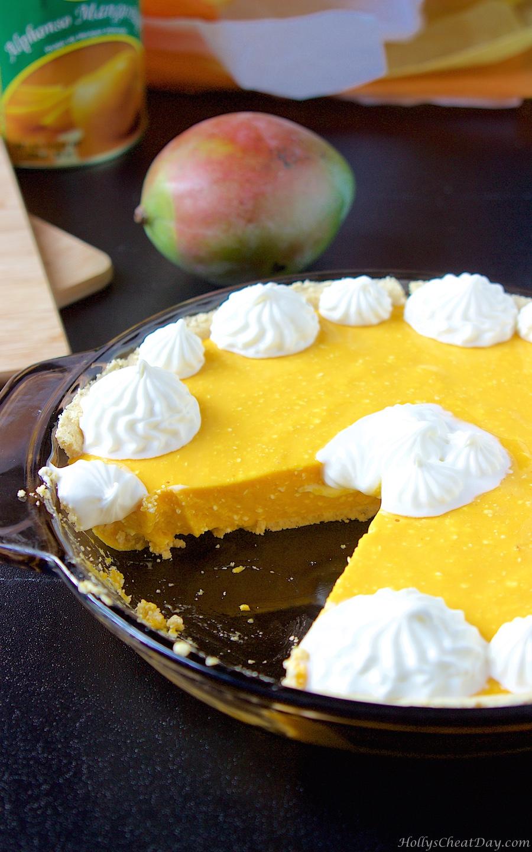 No Bake Mango Pie Holly S Cheat Day