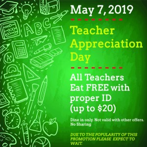 Hyman's Seafood Honors Lowcountry Teachers On Teacher Appreciation Day With  Free Meal – Holy City Sinner