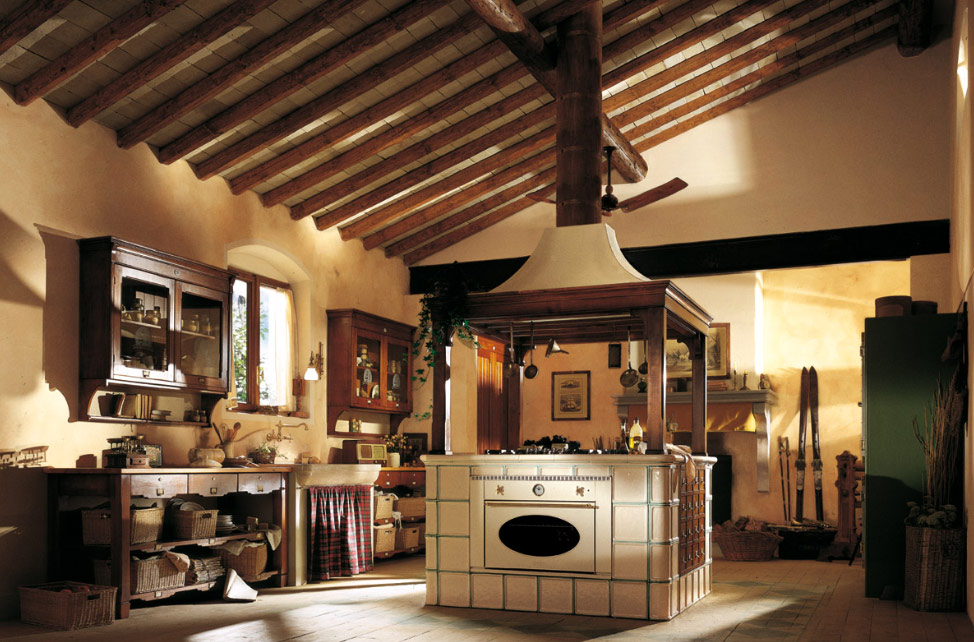 Country Style Kitchen Island